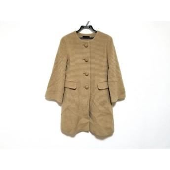 【中古】 ロペ ROPE コート サイズ36 S レディース ライトブラウン 冬物