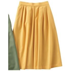 40%OFF【レディース】 タック使いスカート(選べる2レングス) ■カラー:マリーゴールド ■サイズ:S(総丈70)