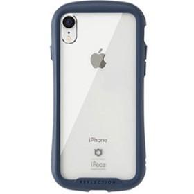 [iPhone XR専用]iFace Reflection強化ガラスクリアケース 41-907221 ネイビー