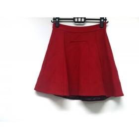 【中古】 マークバイマークジェイコブス MARC BY MARC JACOBS スカート サイズXS レディース レッド