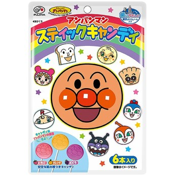 アンパンマン スティックキャンディ 6本【お菓子】