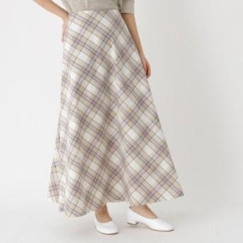 ドレステリア(レディス)(DRESSTERIOR Ladies)/【洗える】オーガニックコットン チェックフレアスカート