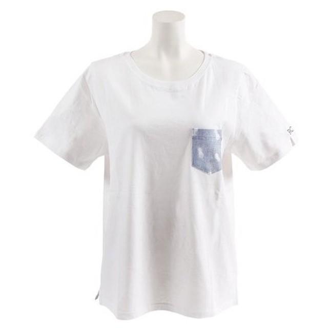 ロキシー(ROXY) FADED PRINT POCKET 半袖Tシャツ 19SPRST191601YWHT (Lady's)