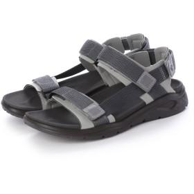 エコー ECCO Mens X-TRINSIC Flat Sandal (WILD DOVE/DARK SHADOW)