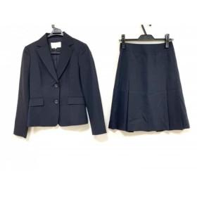 【中古】 ナチュラルビューティー NATURAL BEAUTY スカートスーツ サイズ36 S レディース 美品 黒