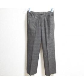 【中古】 レリアン パンツ サイズ11 M レディース ダークブラウン ブラウン アイボリー チェック柄