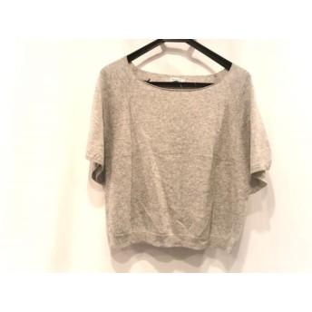 【中古】 アナトリエ anatelier 半袖セーター サイズ38 M レディース 美品 グレー