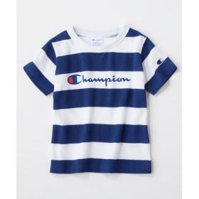 Champion カラーボーダーTシャツ キッズ ネイビー