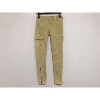 【中古】 ジェイブランド J Brand パンツ サイズ23 レディース イエロー ヴィンテージ加工/裾ジップ