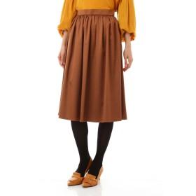 NATURAL BEAUTY トリアセエンボススカート ひざ丈スカート,キャメル4