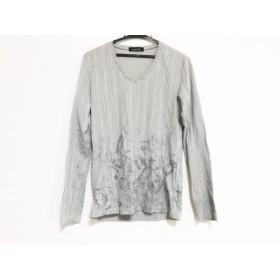 【中古】 トルネードマート TORNADO MART 長袖Tシャツ サイズM メンズ 白 ダークグレー ストライプ