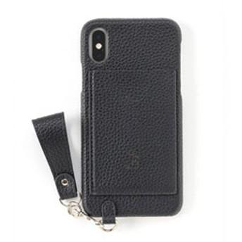 [iPhone XS/X専用]salisty(サリスティ)M パンチングロゴ ハードケース(ブラック)M-HC010G 276-906743