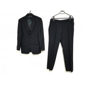 【中古】 コムサイズム COMME CA ISM シングルスーツ サイズM メンズ 黒 シングル/肩パッド