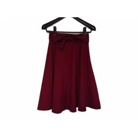 【中古】 アプワイザーリッシェ Apuweiser-riche スカート サイズ0 XS レディース ボルドー
