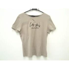 【中古】 ランバンコレクション 半袖Tシャツ サイズ40 M レディース 美品 ベージュグレー スパンコール