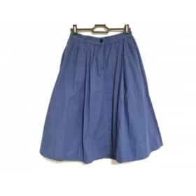 【中古】 マーガレットハウエル MHL. スカート サイズ2 M レディース ライトブルー
