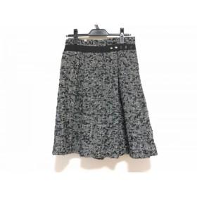 【中古】 トリココムデギャルソン スカート サイズS レディース 美品 黒 アイボリー ツイード