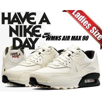 【ナイキ ウィメンズ エアマックス 90 SE】NIKE WMNS AIR MAX 90 SE HAVE A NIKE DAY pale ivory/pale ivory-black 881