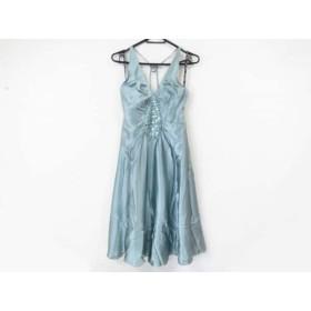 【中古】 ベッツィージョンソン BETSEY JOHNSON ドレス サイズ4 S レディース 美品 ブルーグレー ビジュー
