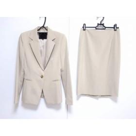 【中古】 アンタイトル UNTITLED スカートスーツ サイズ1 S レディース ベージュ