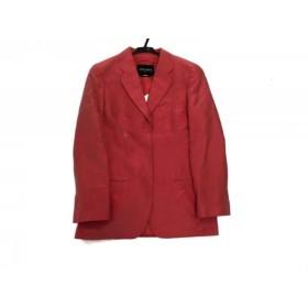 【中古】 ジョルジオアルマーニ GIORGIOARMANI ジャケット サイズ38 S レディース レッド 肩パッド