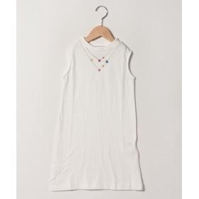 【30%OFF】 ラゲッドワークス ネックレス刺繍ワンピース レディース ホワイト 130 【RUGGEDWORKS】 【タイムセール開催中】