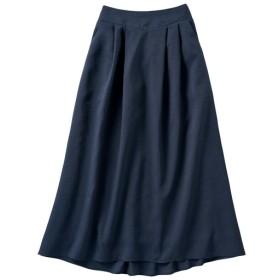 40%OFF【レディース】 タックフレアスカート ■カラー:ネイビー ■サイズ:S,LL,M,L