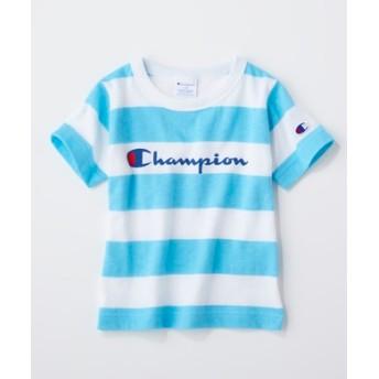 Champion カラーボーダーTシャツ キッズ サックス