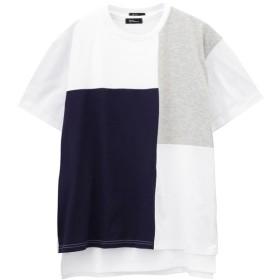 マックハウス Real Standard ブロッキングTシャツ タンク アンサンブル 92 7201P RM メンズ ホワイトB L 【MAC HOUSE】