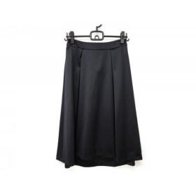 【中古】 ニジュウサンク 23区 ロングスカート サイズ36 S レディース 黒