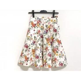 【中古】 アプワイザーリッシェ スカート サイズ0 XS レディース アイボリー マルチ 花柄