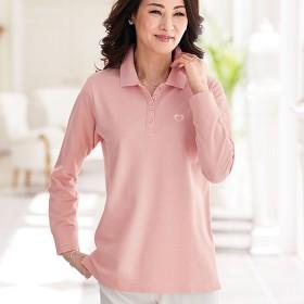 ベルーナ UV加工綿100%かのこポロシャツ グレージュ L レディース