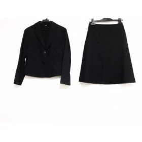 【中古】 ニューヨーカー NEW YORKER スカートスーツ サイズ7 S レディース 黒 グレー