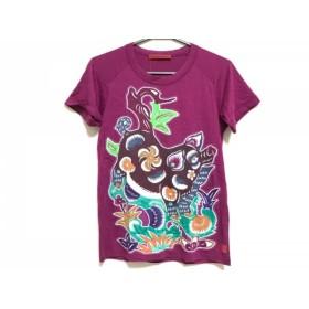 【中古】 ヴィヴィアンタム 半袖Tシャツ サイズ0 XS レディース 美品 ボルドー グリーン マルチ