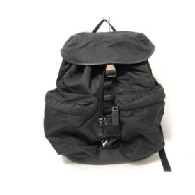 【中古】 プラダ PRADA リュックサック - 黒 ナイロン