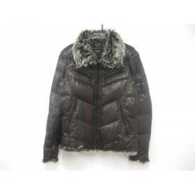 【中古】 ニコルクラブ ダウンジャケット サイズ46 XL メンズ ダークブラウン ダークグレー アイボリー