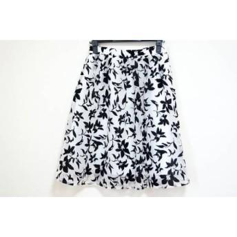 【中古】 マイストラーダ Mystrada スカート サイズ38 M レディース 白 黒 花柄