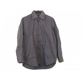 【中古】 ヒューゴボス HUGOBOSS 長袖シャツ サイズ41 メンズ ダークグレー