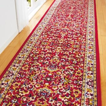 ベルーナインテリア 幅が選べるウィルトン織廊下敷 レッド 約67×120cm