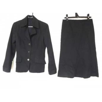 【中古】 バーバリーロンドン Burberry LONDON スカートスーツ サイズ38 L レディース 黒