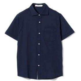 BEAMS LIGHTS / COOLMAX(R) カッタウェイ 半袖シャツ メンズ カジュアルシャツ BLUE M