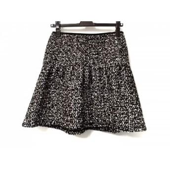 【中古】 バーバリーブルーレーベル ミニスカート サイズ36 S レディース 美品 黒 白