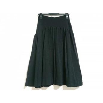 【中古】 ソニアリキエル SONIARYKIEL スカート サイズ42 L レディース 黒 ニット