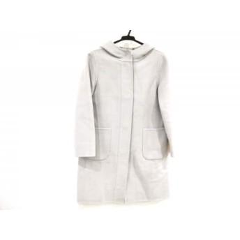 【中古】 ビームス BEAMS コート サイズ36 S レディース ライトグレー Demi-Luxe/冬物