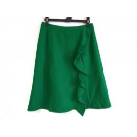 【中古】 ソニアリキエル SONIARYKIEL スカート サイズ40 M レディース グリーン