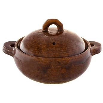 多用鍋 コトコト (アメ) 18×22×15cm 土鍋・卓上鍋