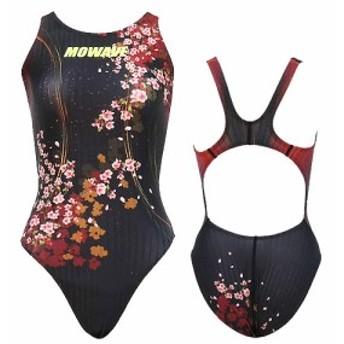 MOWAVE モワビ スイムウェア ブラッサム ワンピース 水着 レディース 女性 フィットネス 水泳 競