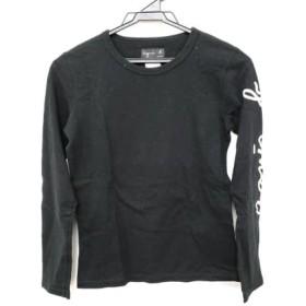 【中古】 アニエスベー agnes b 長袖Tシャツ サイズ1 S レディース 黒 白