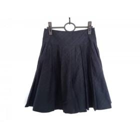 【中古】 バーバリーブルーレーベル Burberry Blue Label スカート サイズ38 M レディース 黒 チェック柄