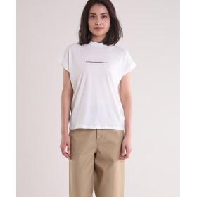 【50%OFF】 イネド 《Maison de Beige》ミニロゴTシャツ《マシュふわ(R)》 レディース ホワイト 09 【INED】 【セール開催中】
